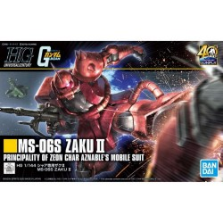 Maqueta GUNDAM - MS-06S  ZAKU II  - Gunpla HG - 1/144