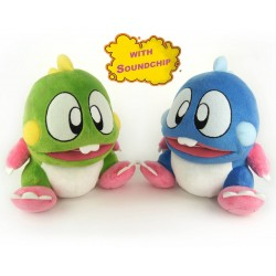 (PACK) PELUCHES Bubble Bobble CON SONIDO.
